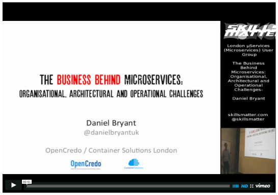 Daniel Bryant - Business Behind Microservices video recording